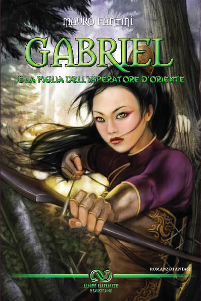 oriental fantasy china japan girl archer book cover illustration